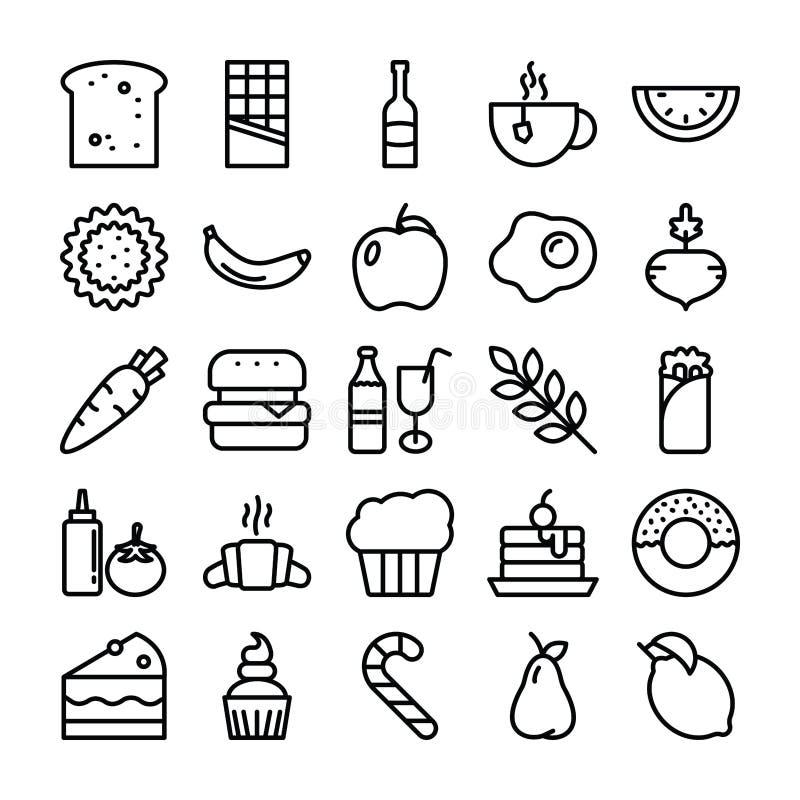 Iconos del paquete de la comida libre illustration