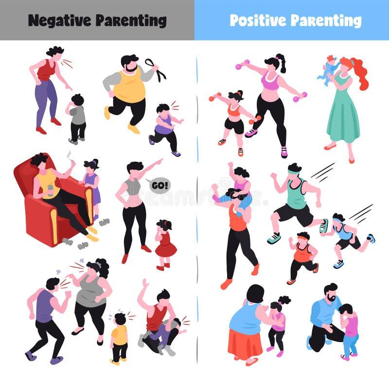 Iconos del Parenting fijados libre illustration