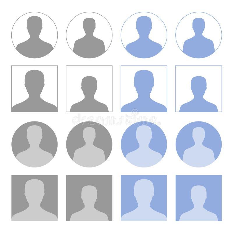 Iconos del perfil stock de ilustración