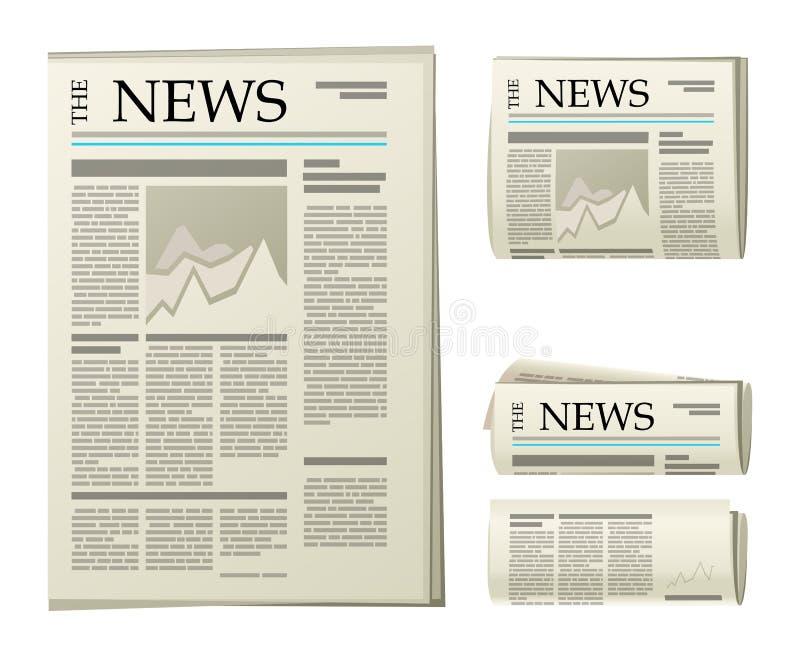 Iconos del periódico libre illustration