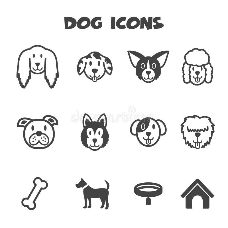 Iconos del perro stock de ilustración
