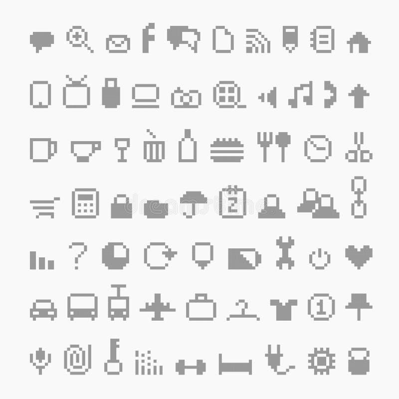Iconos del pixel libre illustration