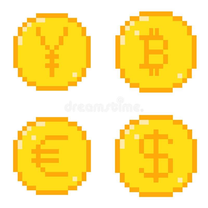 Iconos del pixel fijados libre illustration