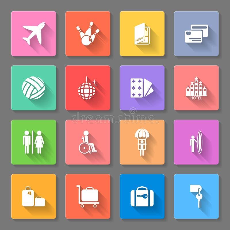 Iconos del recorrido stock de ilustración