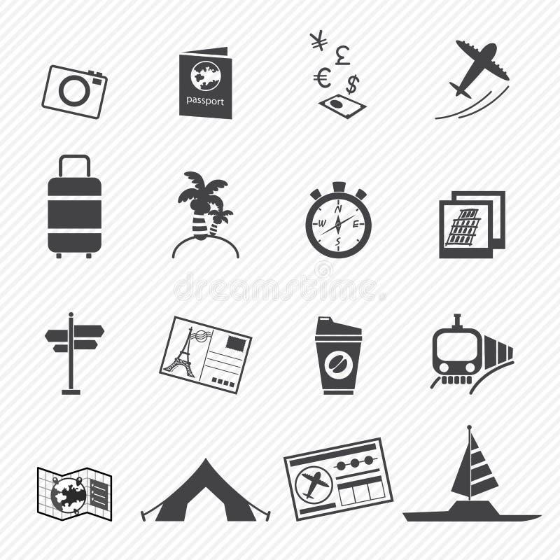 Download Iconos del recorrido ilustración del vector. Ilustración de correspondencia - 42432989
