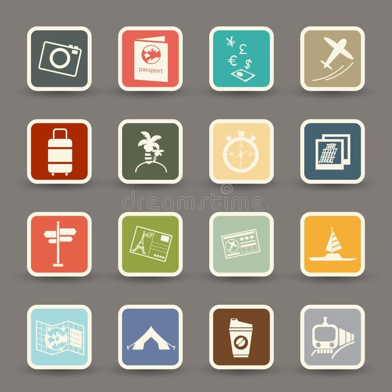 Download Iconos del recorrido ilustración del vector. Ilustración de tierra - 42433861