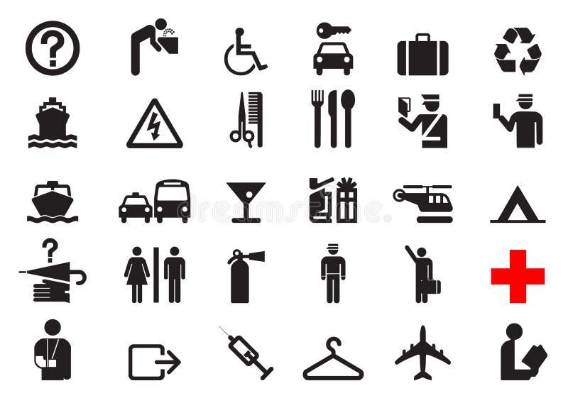 Iconos del viaje ilustración del vector