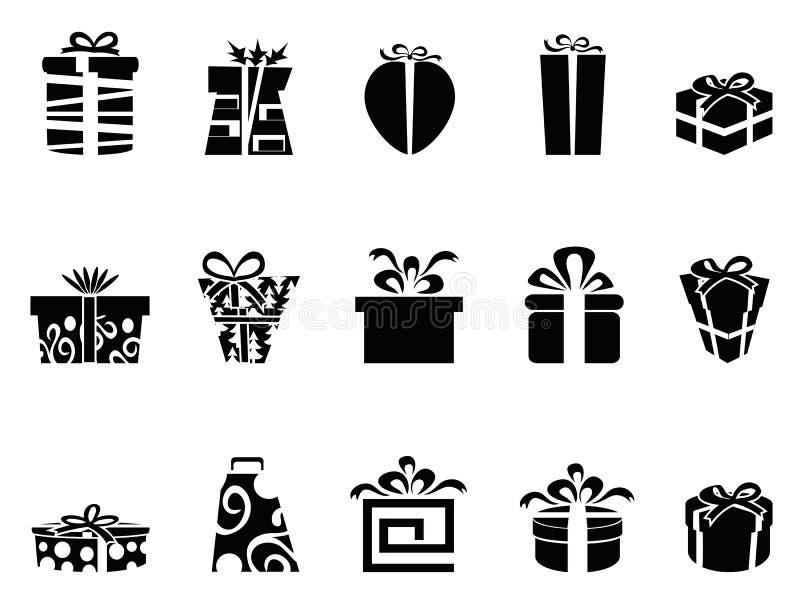 Iconos del rectángulo de regalo stock de ilustración