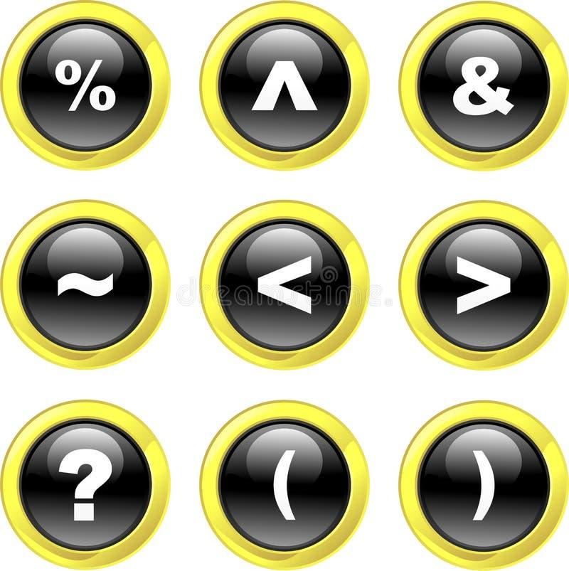 Iconos del símbolo ilustración del vector