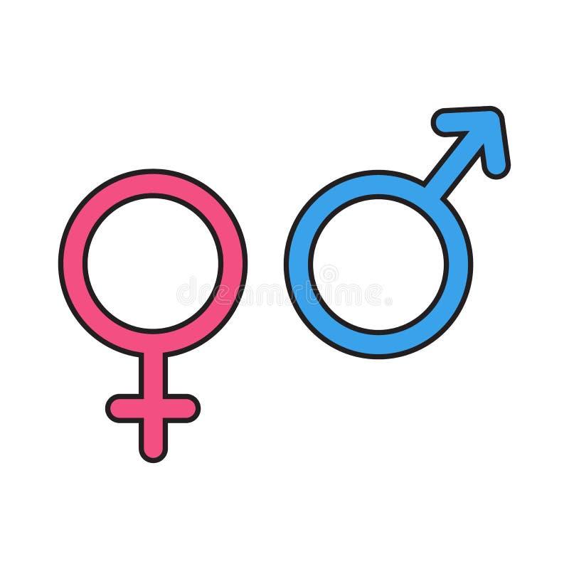 Iconos del símbolo del género Ilustración del vector libre illustration
