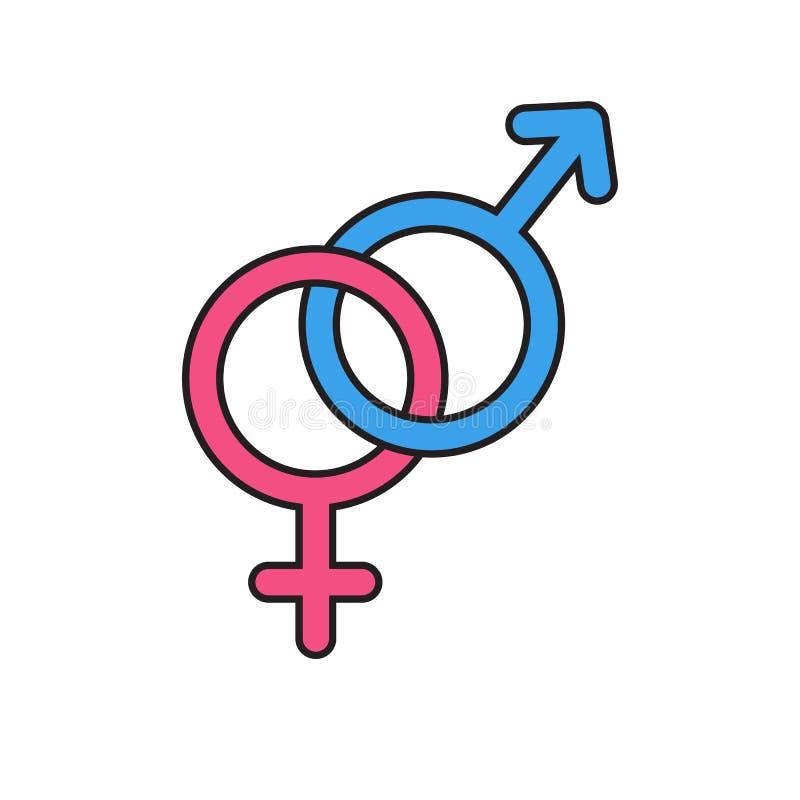 Iconos del símbolo del género Ilustración del vector ilustración del vector