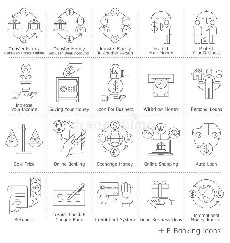 Iconos del servicio bancario libre illustration