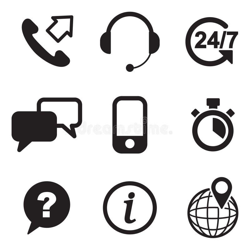 Download Iconos Del Servicio De Atención Al Cliente Ilustración del Vector - Ilustración de auriculares, info: 41902571
