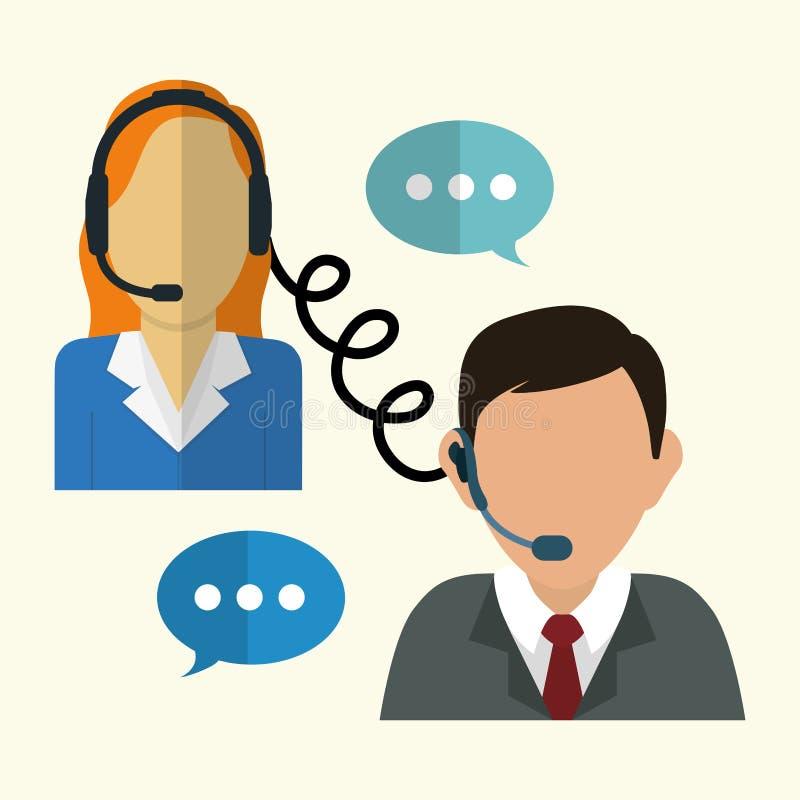 Iconos del servicio de atención al cliente stock de ilustración
