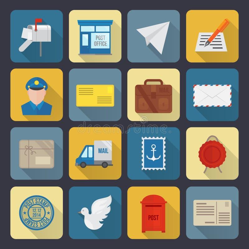 Iconos del servicio de los posts stock de ilustración