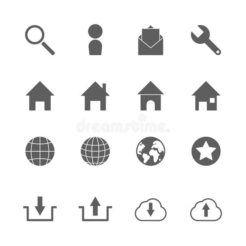 Iconos del sitio web fijados libre illustration