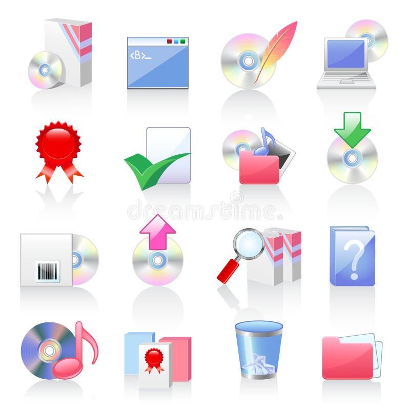 Iconos del software y de la aplicación stock de ilustración