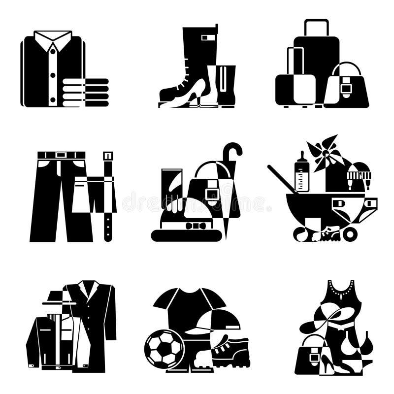Iconos del supermercado ilustración del vector