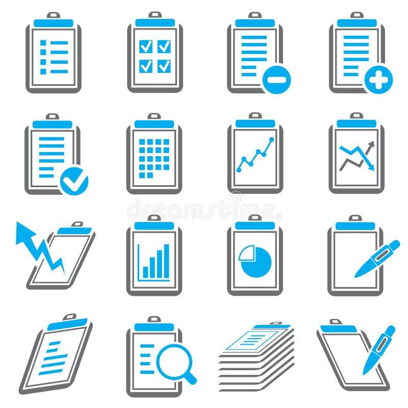 Iconos Del Tablero Y Del Informe Stock de ilustración ...