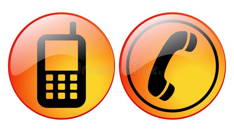 Iconos del teléfono ilustración del vector