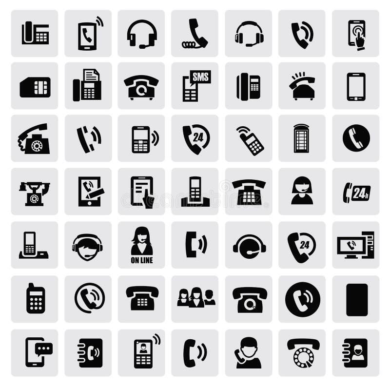 Iconos del teléfono stock de ilustración