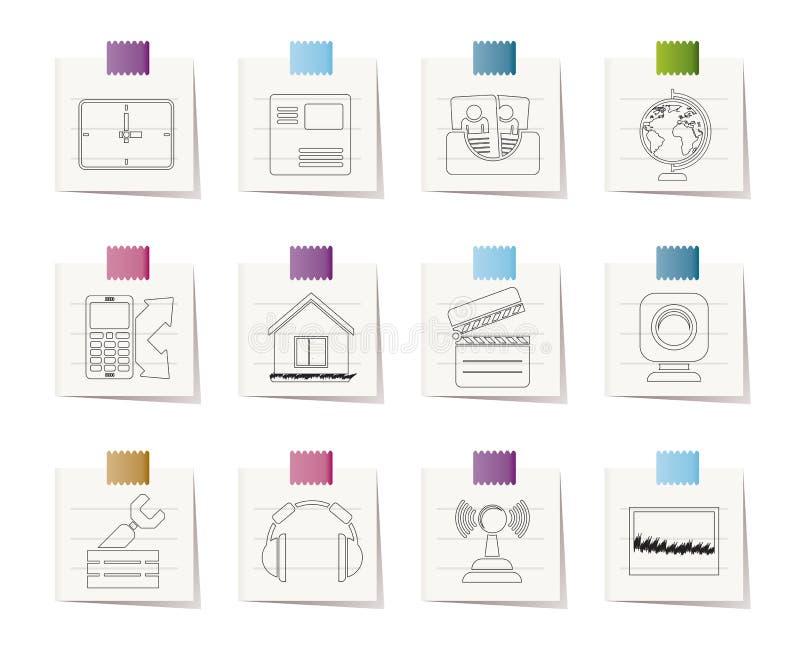 Iconos del teléfono móvil y del ordenador ilustración del vector