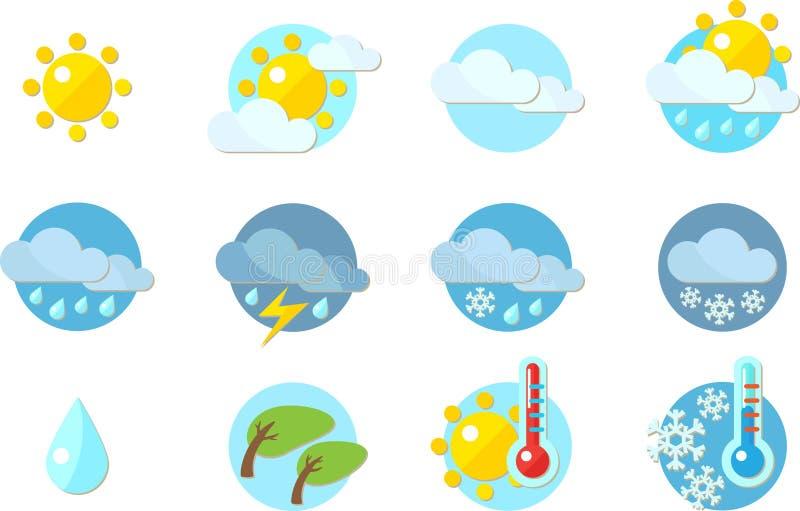 Iconos del tiempo stock de ilustración