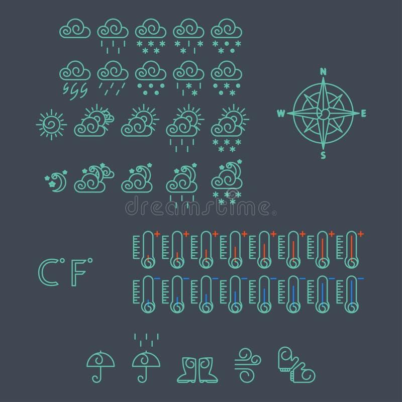 Download Iconos del tiempo ilustración del vector. Ilustración de noche - 41916076