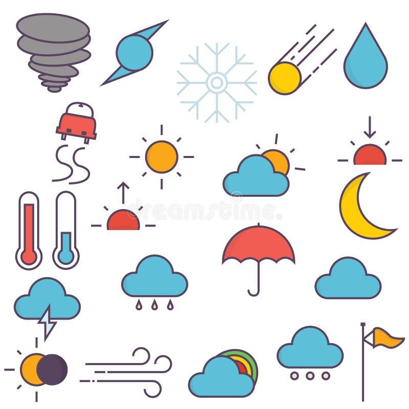 Iconos del tiempo libre illustration