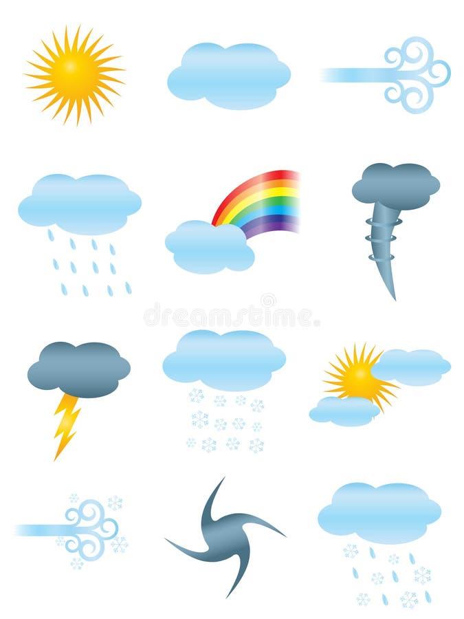 Iconos del tiempo ilustración del vector