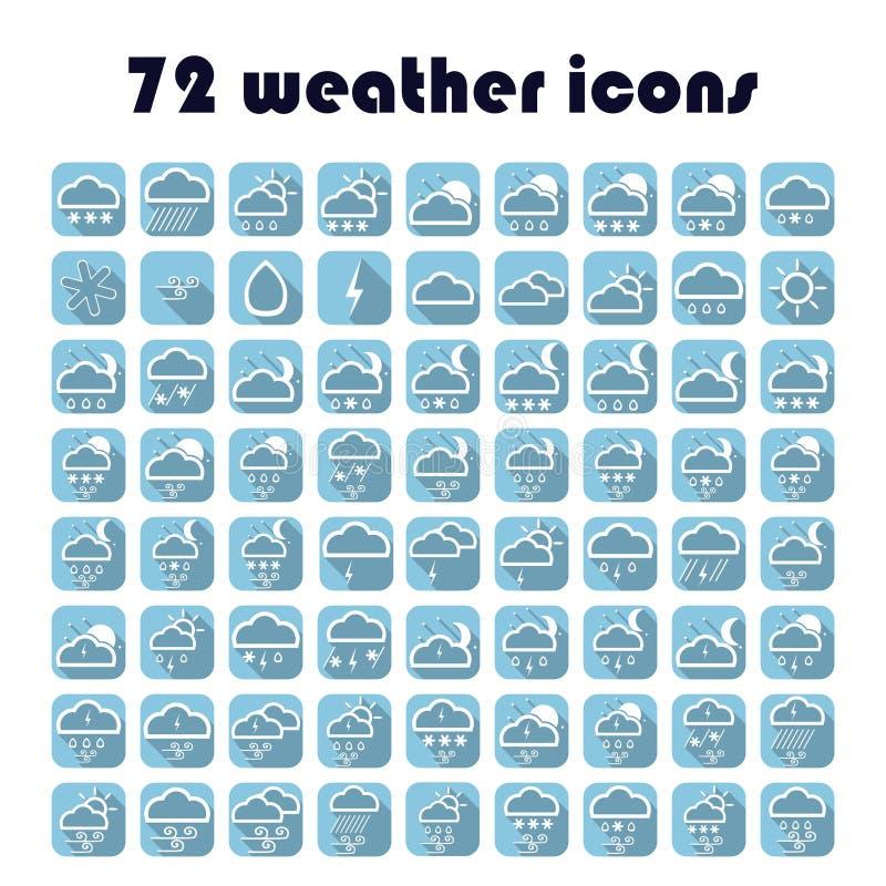 49 iconos del tiempo fijados Tiempo del vector ilustración del vector