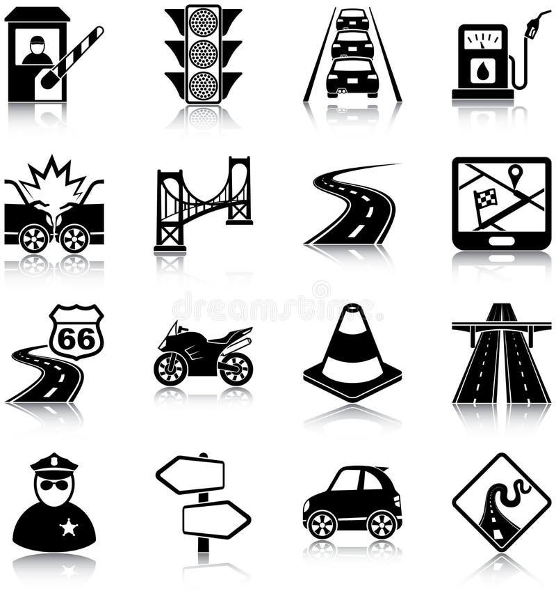 Iconos del tráfico por carretera libre illustration