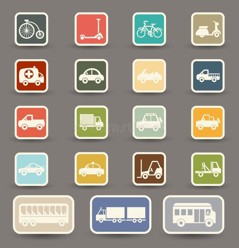 Download Iconos del transporte ilustración del vector. Ilustración de cuatro - 42433842