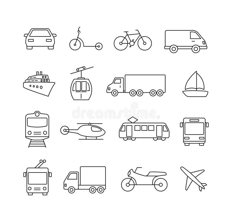 Iconos del transporte - viaje stock de ilustración