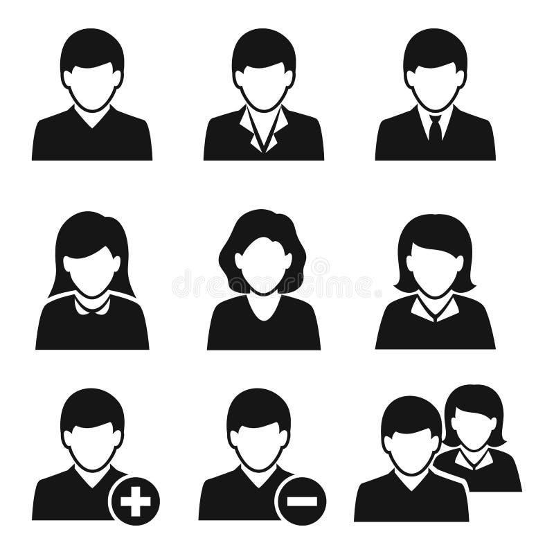 Iconos del usuario stock de ilustración