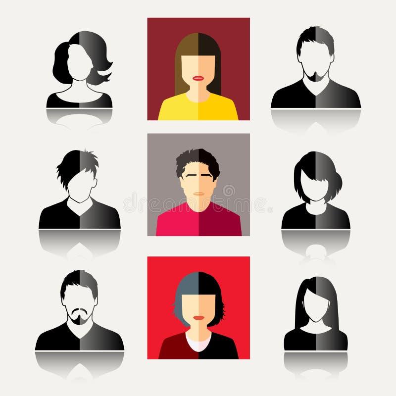 Iconos del usuario ilustración del vector