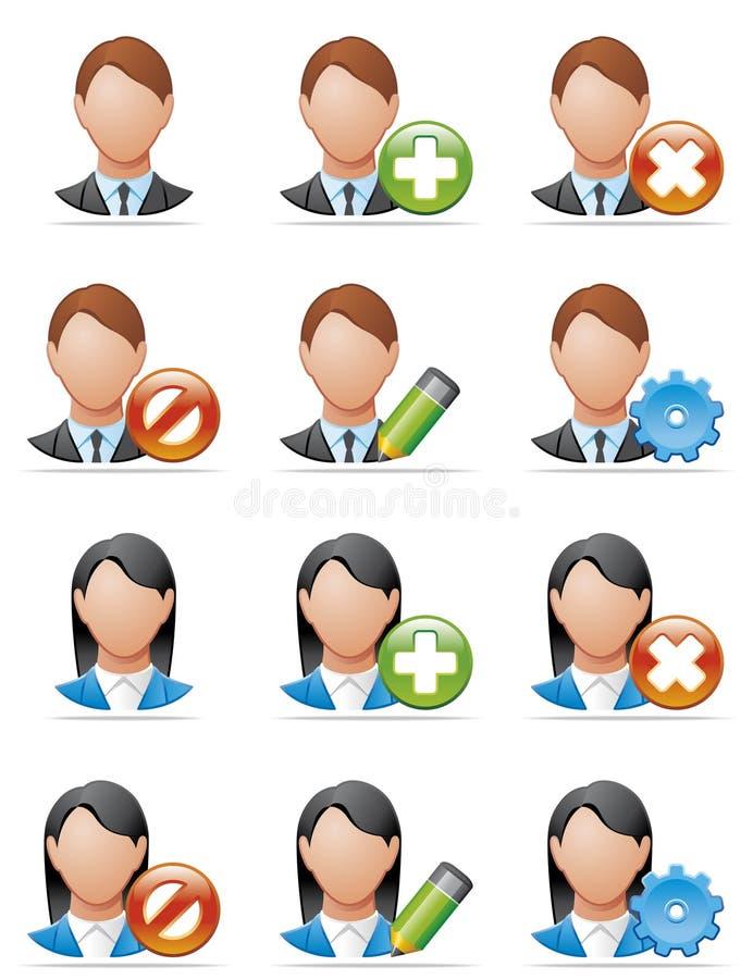 Iconos del utilizador ilustración del vector