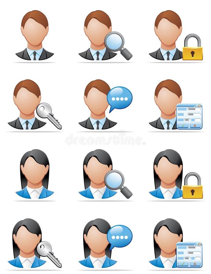 Iconos del utilizador libre illustration