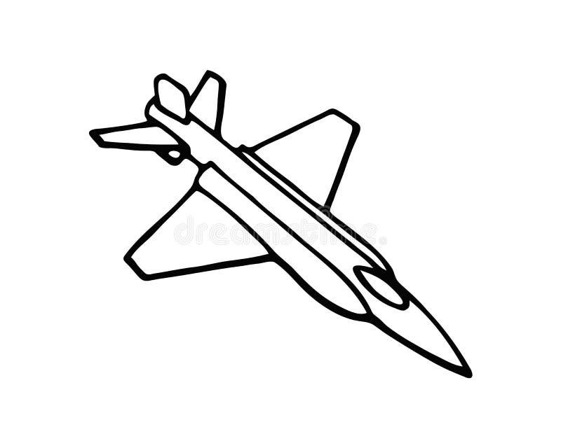 Iconos del vector de la aviación del vuelo Siluetas negras del aeroplano en cielo Ejemplo del vuelo, de la aviación y de los avio ilustración del vector