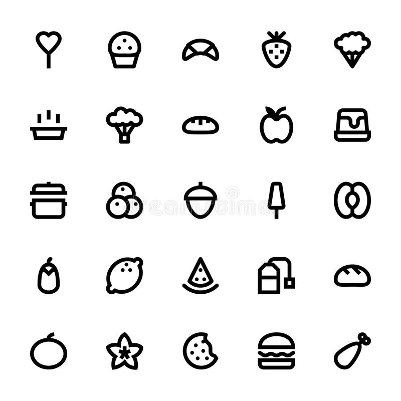 Iconos 6 del vector de la comida y de las bebidas libre illustration
