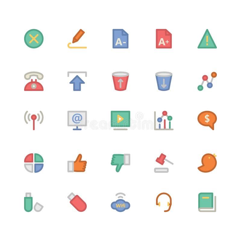 Iconos 6 del vector de la comunicación ilustración del vector