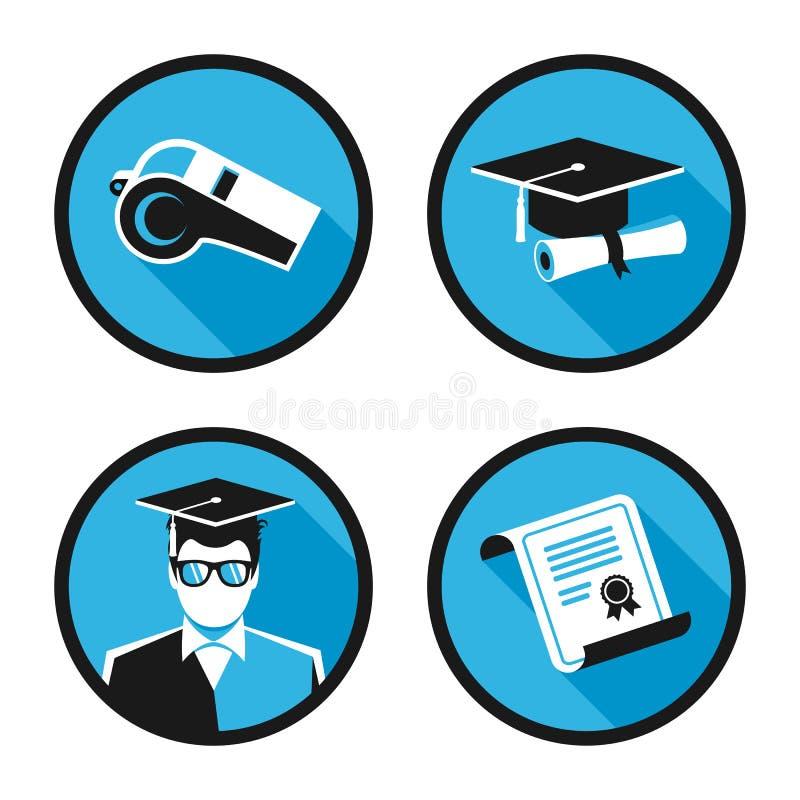 Iconos del vector de la educación imágenes de archivo libres de regalías