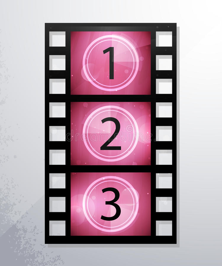 Iconos del vector de la película. eps10, y transparencia. libre illustration