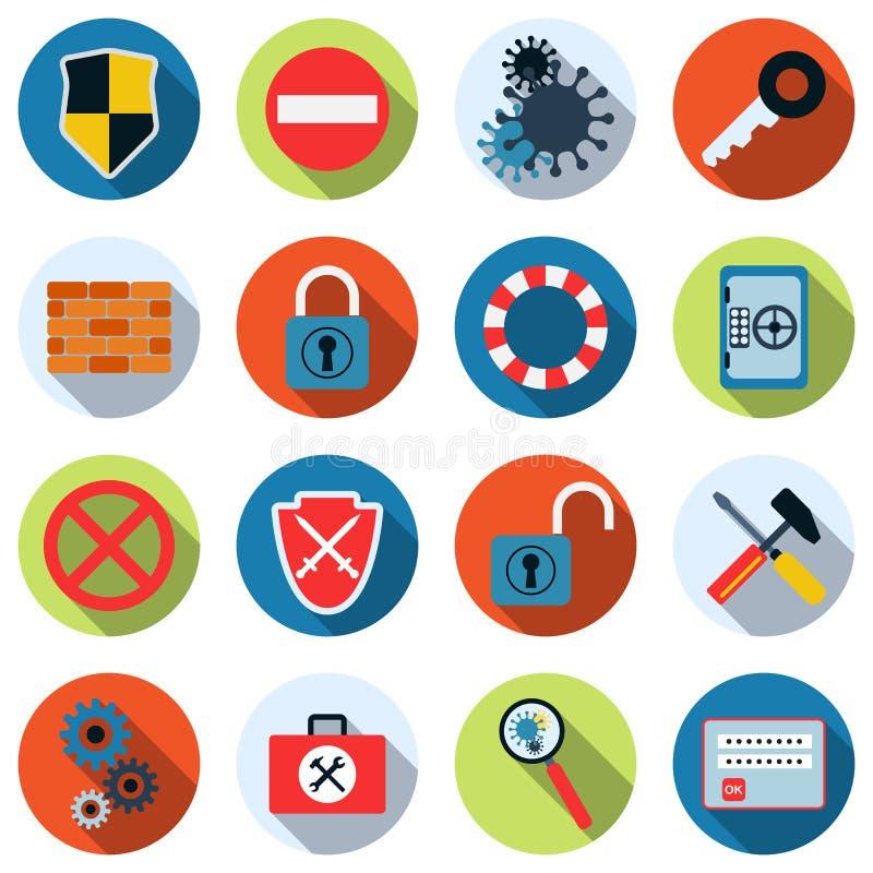 Iconos del vector de la seguridad informática libre illustration