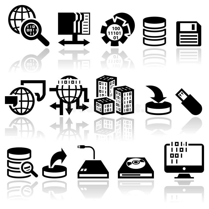 Iconos del vector de la serie fijados stock de ilustración