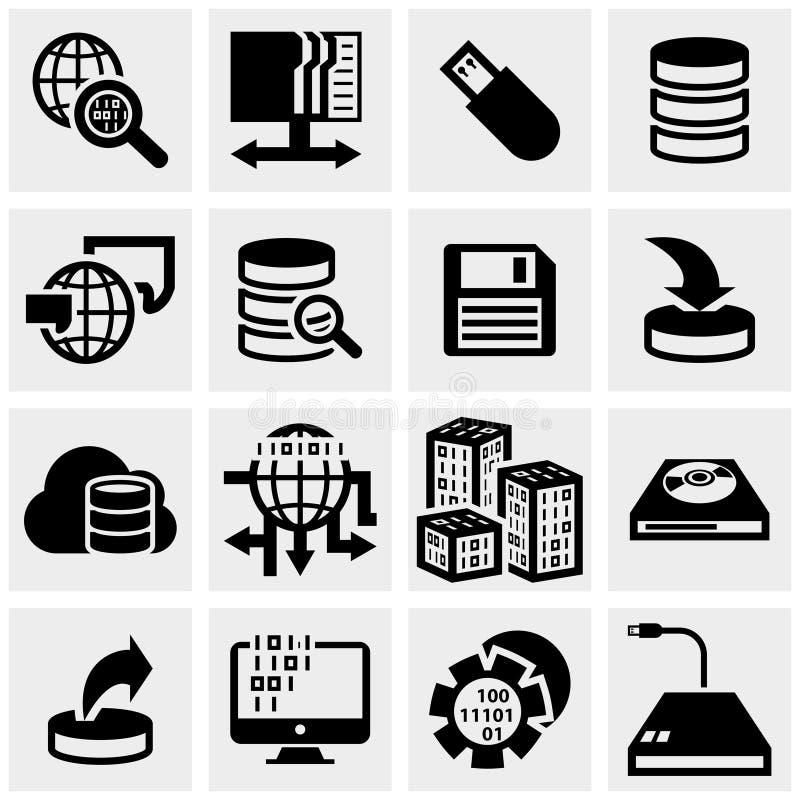 Iconos del vector de la serie fijados en gris ilustración del vector