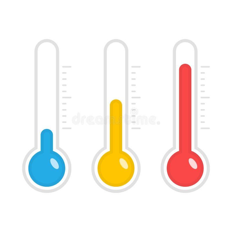Iconos del vector de la temperatura ilustración del vector
