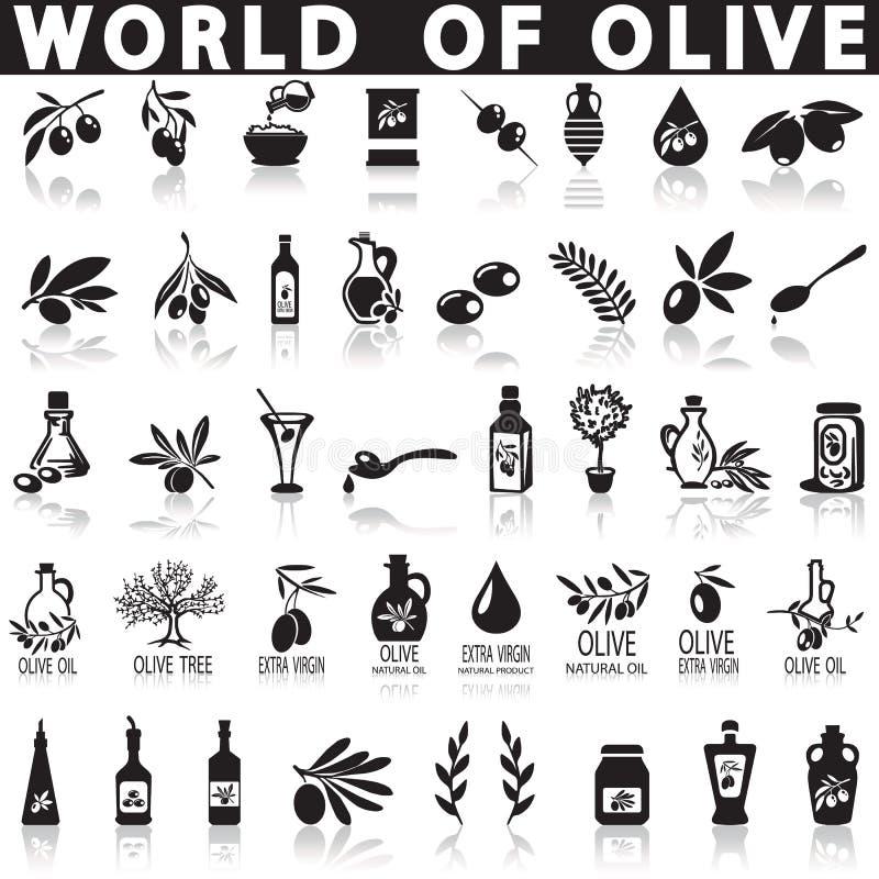 Iconos del vector de las aceitunas libre illustration