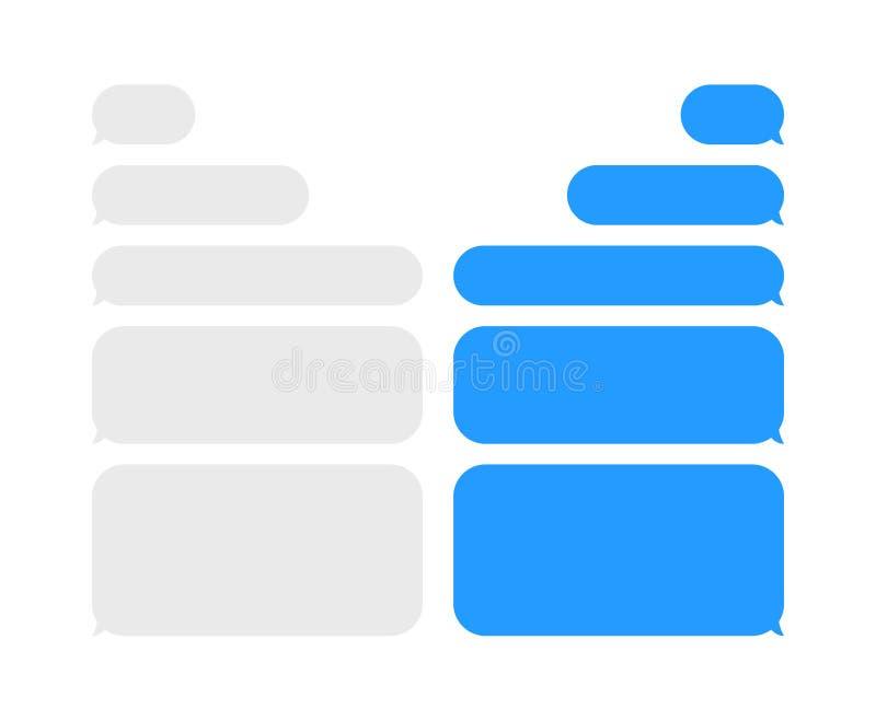 Iconos del vector de las burbujas de la charla del mensaje para el mensajero Plantilla para la charla del mensaje Ilustración del ilustración del vector
