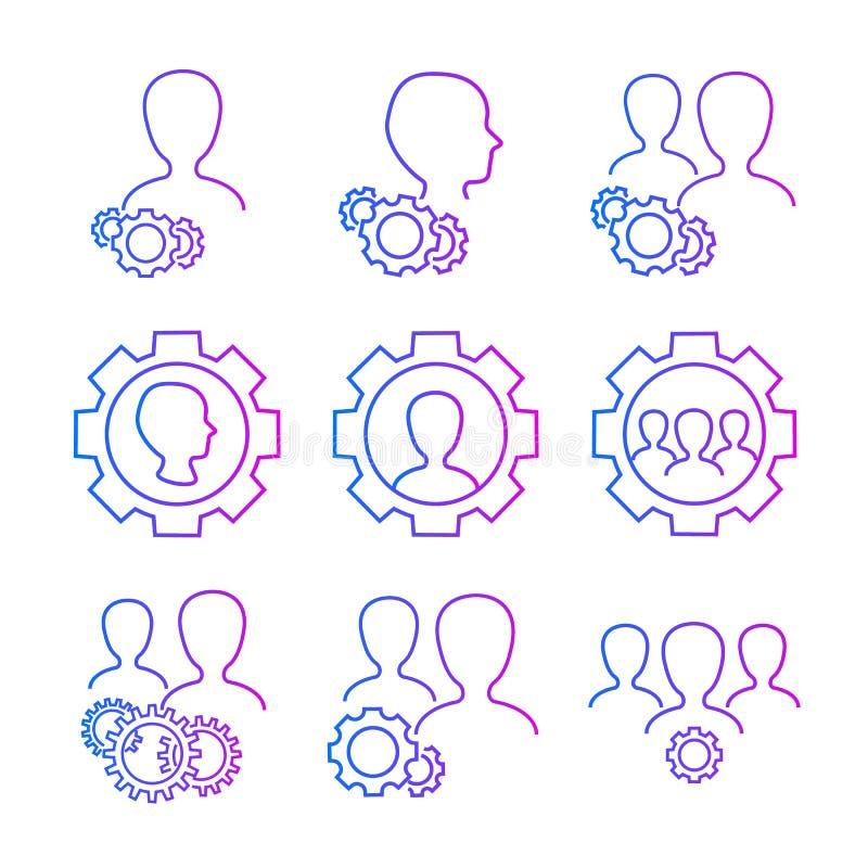 Iconos del vector de las configuraciones del usuario libre illustration